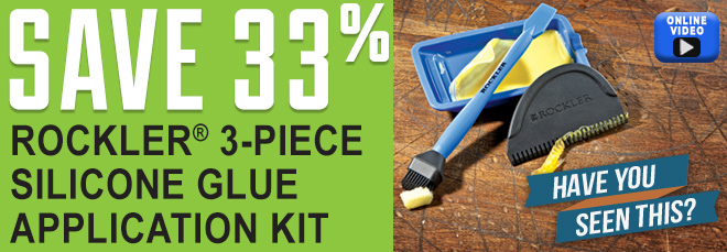 Save 33% on Rockler 3-Piece Silicone Glue Application Kits