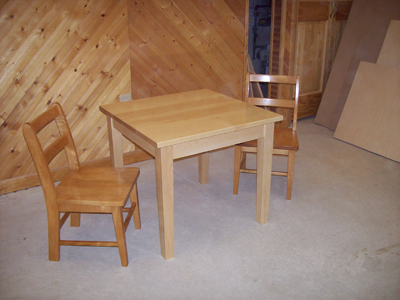 Country School Table and Chairs Set