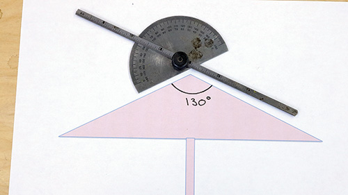 Graphing angle for spin top cut
