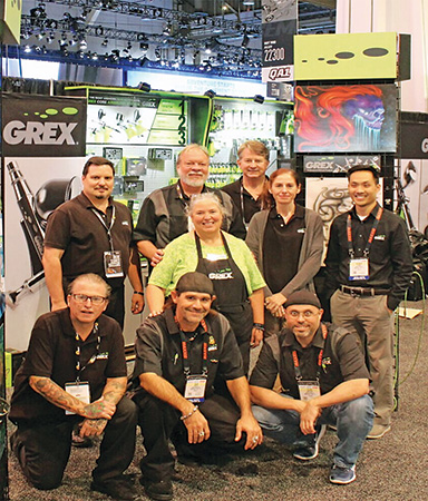 GREX staff in their booth